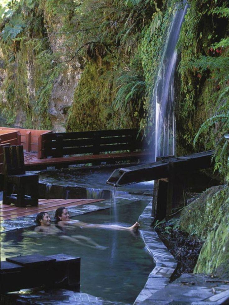 German Del Sol, Guy Wenborne · Termas Geométricas. Villarrica National Park in Chile #landscape #design #thermal #park #Chile
