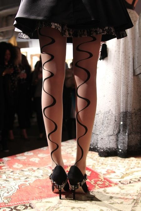 Tights with a twist. Joie de vivre, indeed. @alice + olivia #NYFW #Fall2013