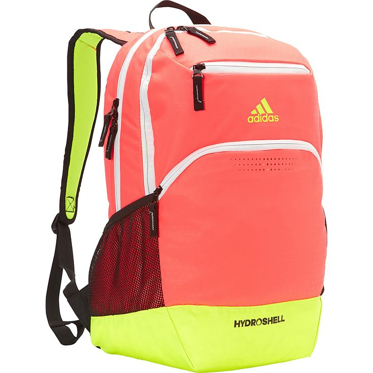 Image of adidas Rumble Backpack Flash Red/Solar Yellow - adidas Laptop Backpacks