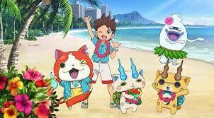 Yo-kai in holiday (¿in Hawaii?)+(L.O.L.:))