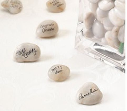 Have your guest sign a stone and place in the vase