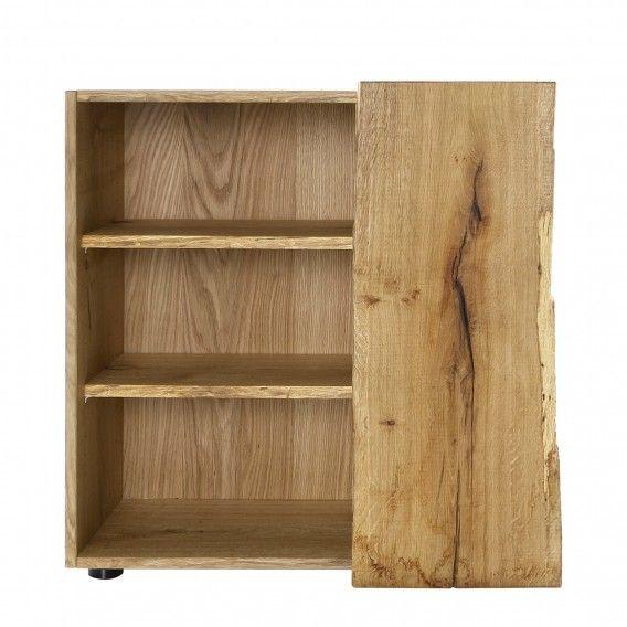 Open kast Woodkid II - massief eikenhout | home24.nl