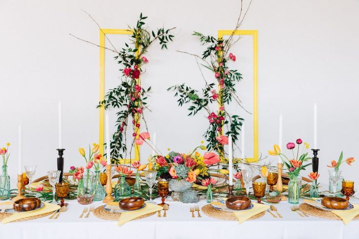 Colourful Wedding; Tablescape; Tabletop; Toronto Wedding Planner; Event Planner