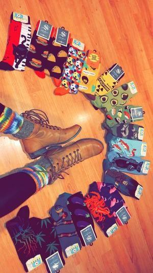 Bite Me Shark Crew Socks