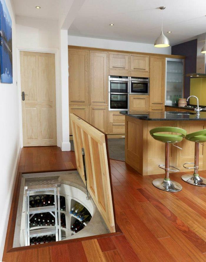 weinlagerung küche wenkeller rechteckig