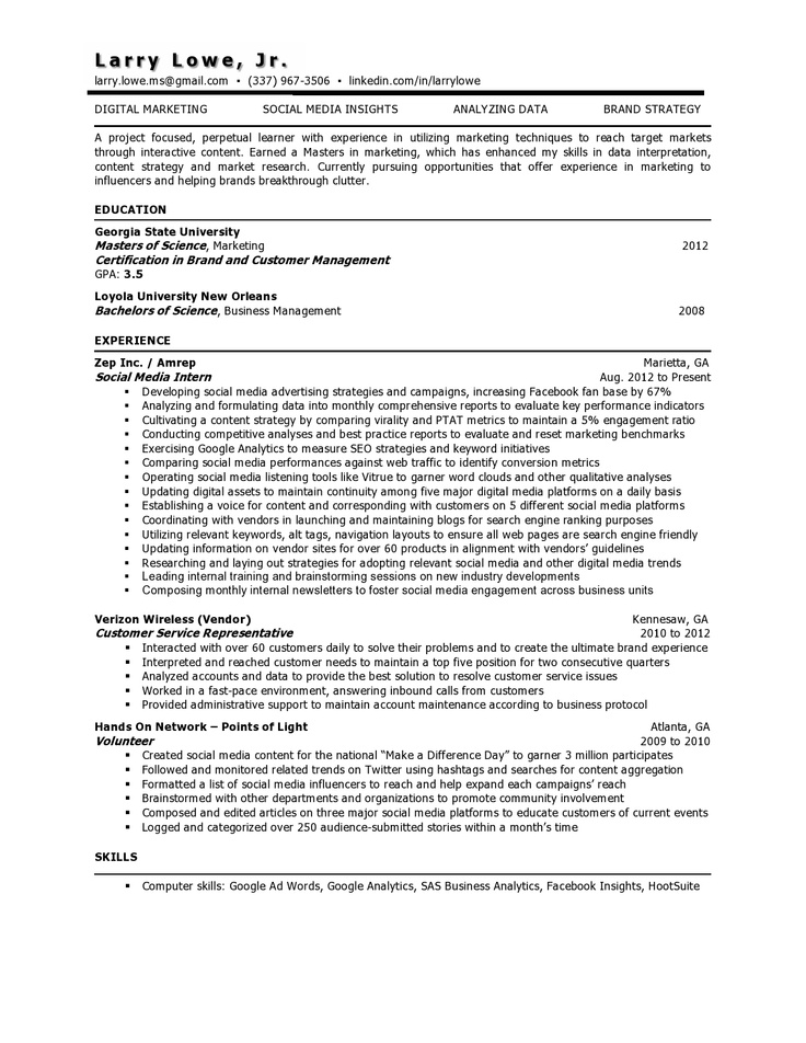9 best Project Management Resume images on Pinterest Project - project management resume skills