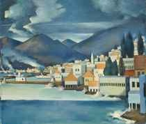 At the Part One Christie's sale in Dubai on April 17 - Le Port de Beyrouth by Modern Master Mahmoud Said