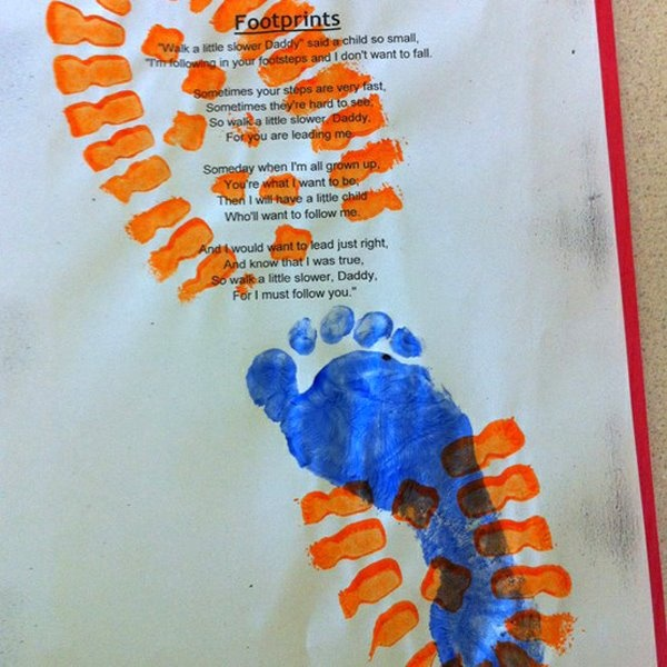 50 best fathers day images on pinterest parents day daddy gifts we love the idea of incorporating footprints or handprints into mothers and fathers day gifts here are two adorable and meaningful projects to do with solutioingenieria Gallery