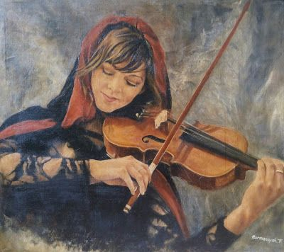Filani Art: Painting of Lindsey Stirling
