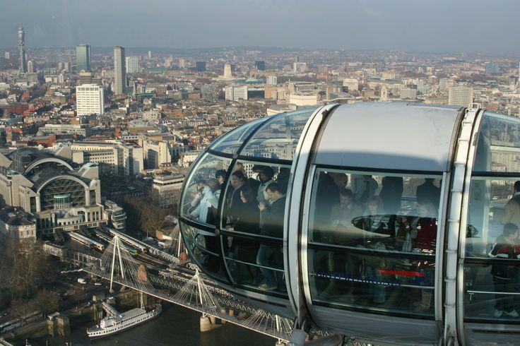 Vista de Londres de dentro do London Eye