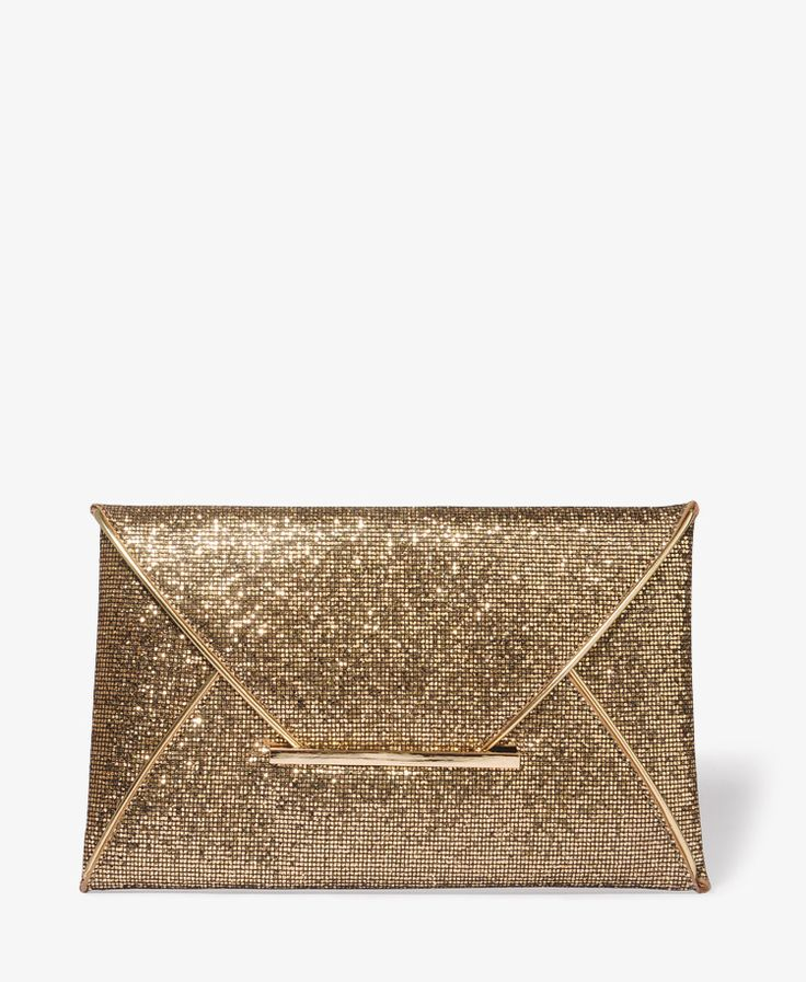 Glittered Envelope Clutch | FOREVER21 - 1025101065 $23.80 Glitter and envelope all in one! Love it!