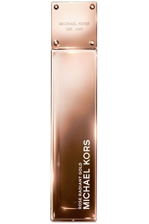 Bright and sparkly fruit notes blend with warm musks and rich rose for the most seamless scent transition into the cooler season. Michael Kors Rose Radiant Gold, $100, bloomingdales.com.