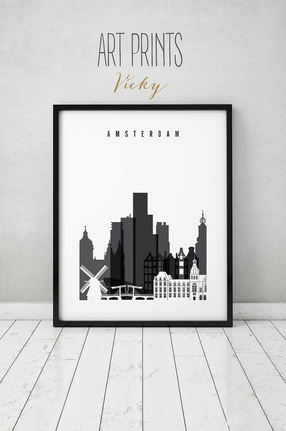 Wall Art Posters 74 best city skylines in black and white images on pinterest