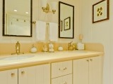 : Carmadillo Bathroom, Small Mirror, Beaches Bungalows, Baker Design, Regan Baker, Iluka Decor, Towels Rods, Beaches Style, Bathroom Traditional