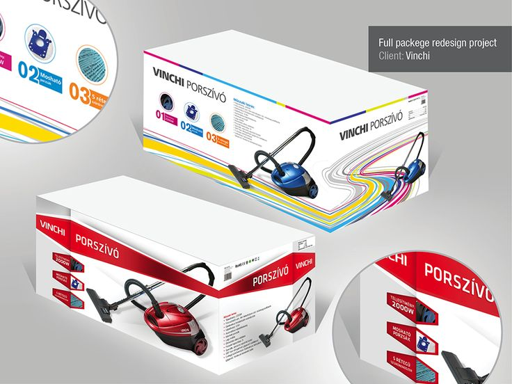 vinchi electrican products packaging design