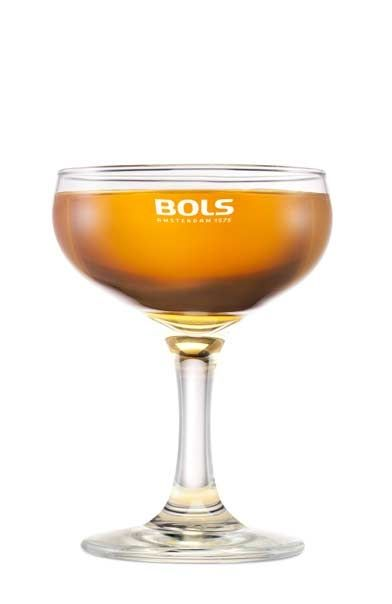 IMPEACHMENT  ~1.5 oz Bols Genever ~.5 oz  Peach Liqueur  ~1 barspoon Simple Syrup ~2 dashes Angostura Bitters ~2 dashes Peychaud Bitters