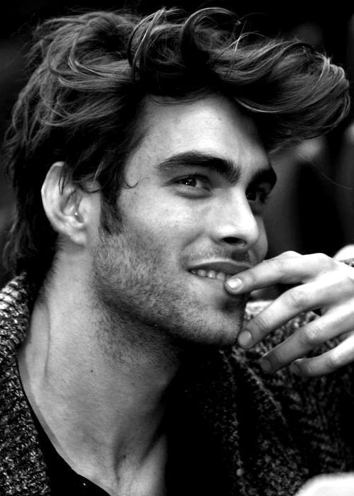 Windswept pompadour on gorgeous dude, via Inspirational Hair Hairstyles…