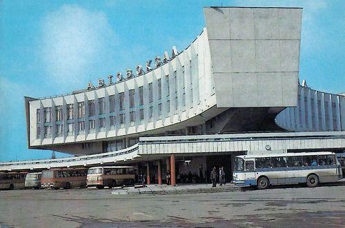 Russia, Leningrad, Leningrad Bus station
