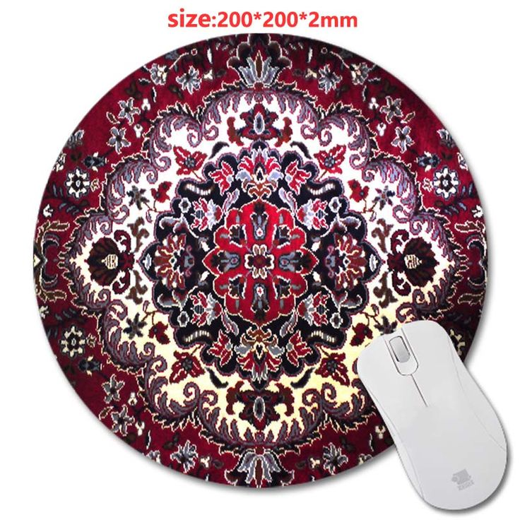 Circular 200*200*2mm Carpet  rubber mouse pad PC mputer Gaming Mousepad Fabric + Rubber Material - accessory and gift