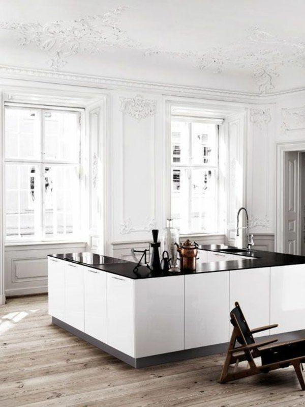 Küchen freistehend weiß Kochinsel küchenblock MertlochDeko - kuechen mit kochinsel
