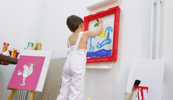 niño artista marco pintar children