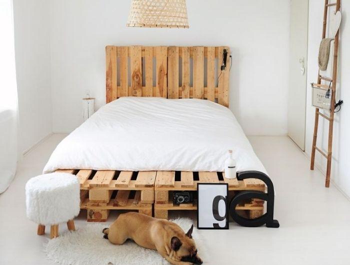 ▷ 1001 + modèles pour une tête de lit en palette de bois ...