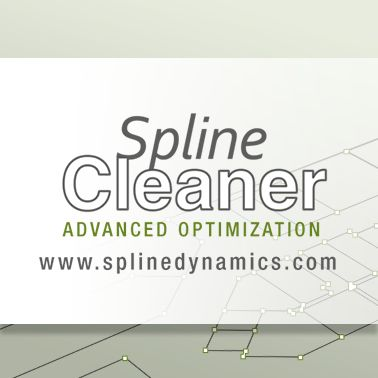 Spline Cleaner 3dsmax plugin. Batch processing tool for cleaning and managing spline curves. Optimize, normalize, reduce number of vertices, remove knots.