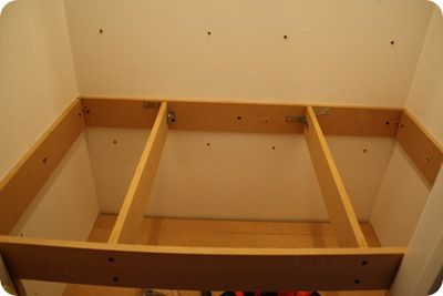 How to build the elevated frame for the closet reading nook.