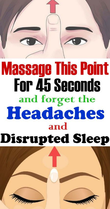 Massage This Point For 45 Seconds And Forget About The Constant Headaches And Disrupted Sleep!