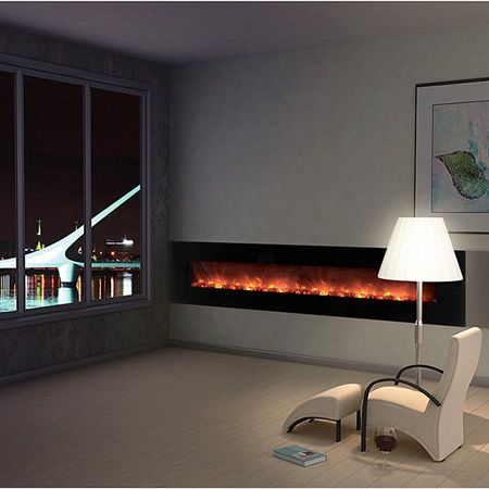 modern flames 100 ambiance linear deluxe electric fireplace electric fireplaces. Black Bedroom Furniture Sets. Home Design Ideas