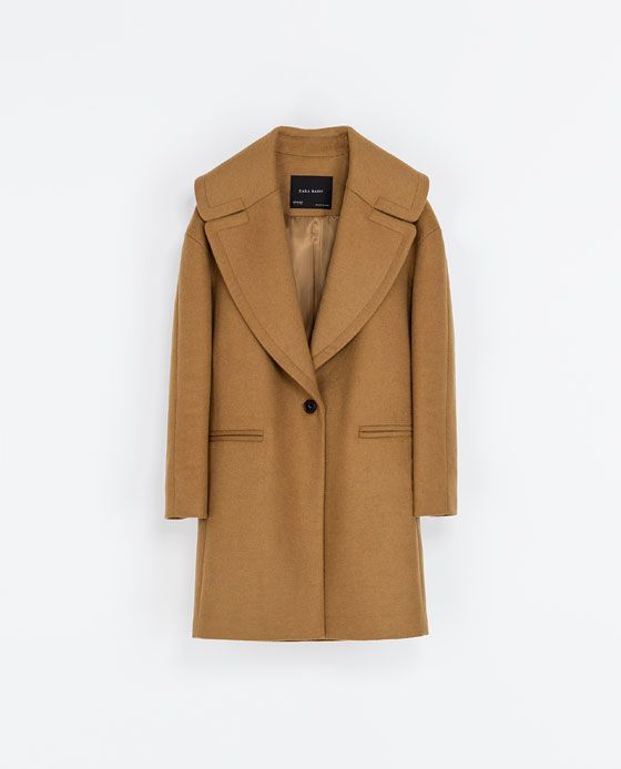 Image 7 of COAT WITH LARGE LAPEL from Zara