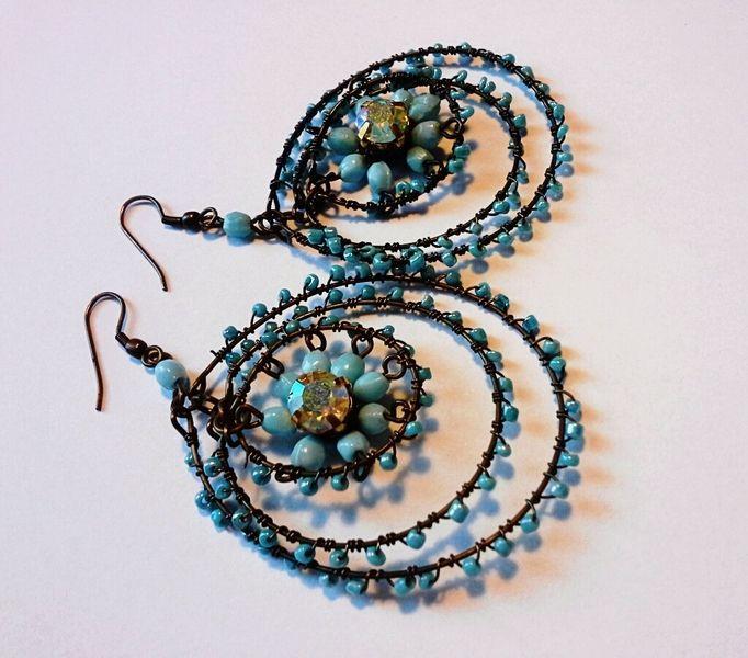 orecchini turchesi boho chic di Boho Chic Jewelry su DaWanda.com
