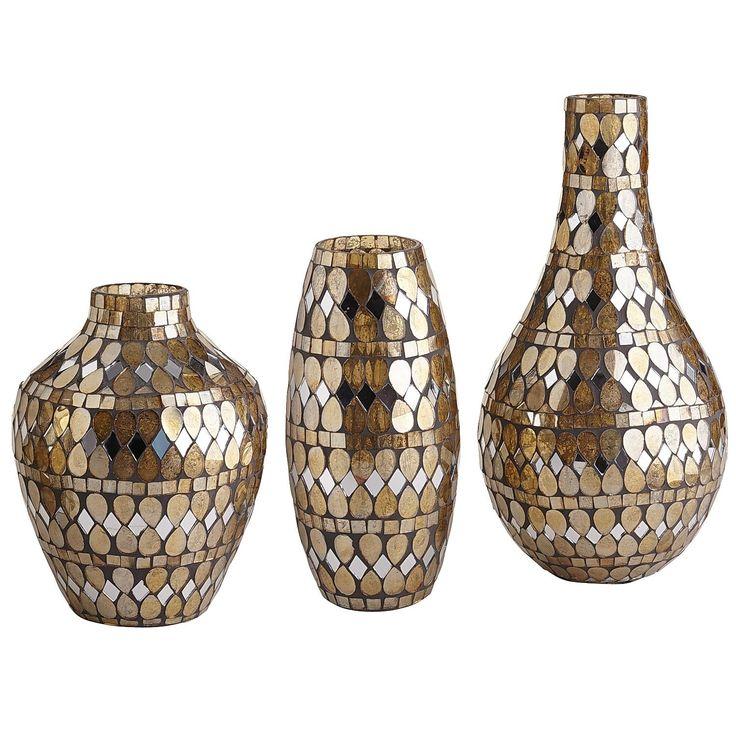 Golden Mosaic Vases   Pier 1 Imports