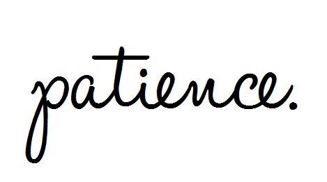 Patience.  Definitely patience.