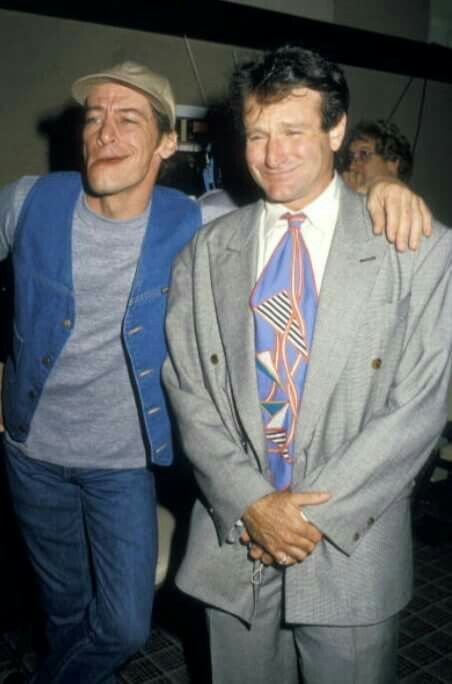 Jim Varney and Robin Williams at NATO/ShoWest, Bally's Resort  ||  1987