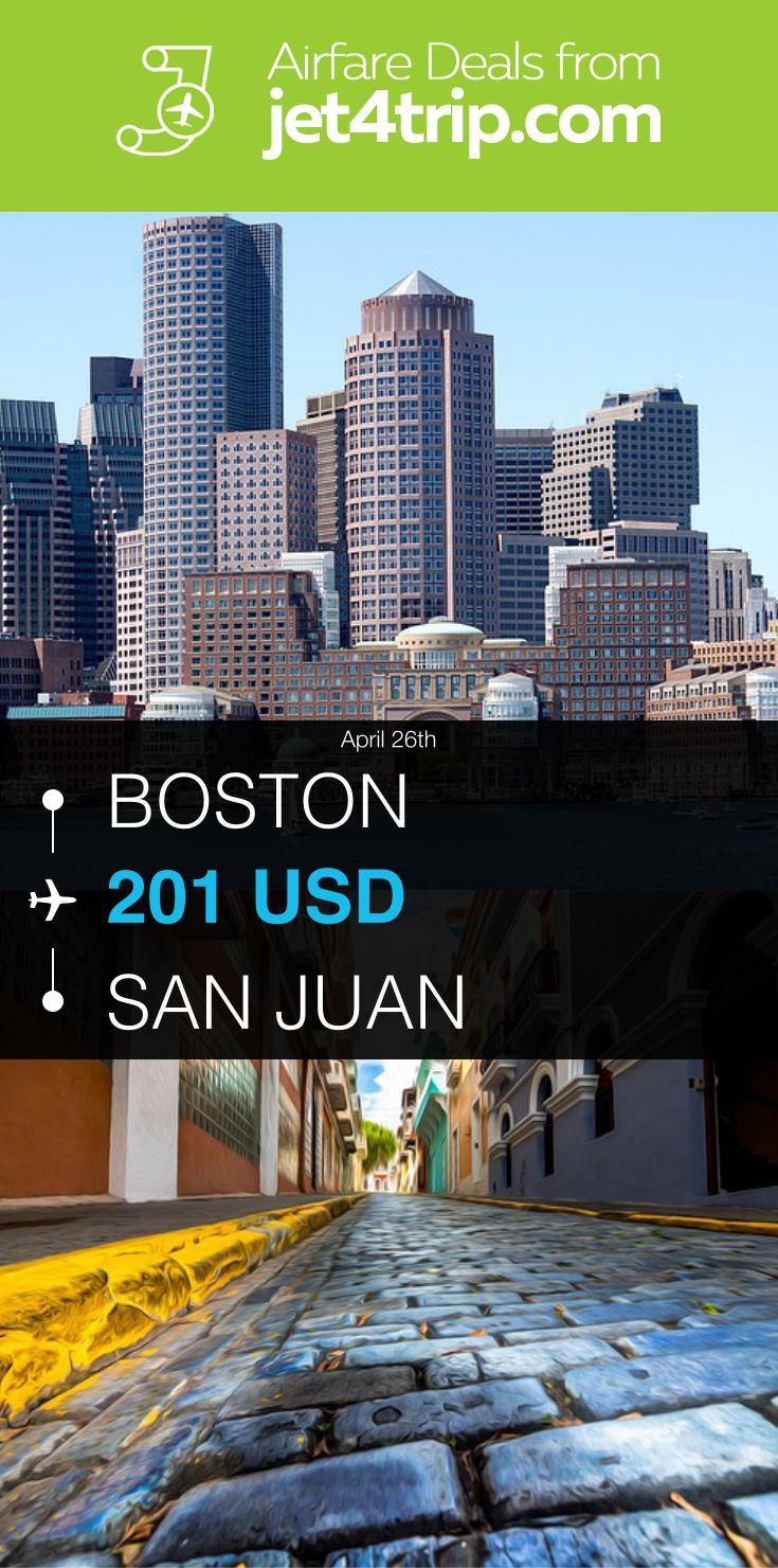 Flight from Boston to San Juan for $201 by Spirit Airlines #travel #ticket #deals #flight #BOS #SJU #Boston #San Juan #NK #Spirit Airlines