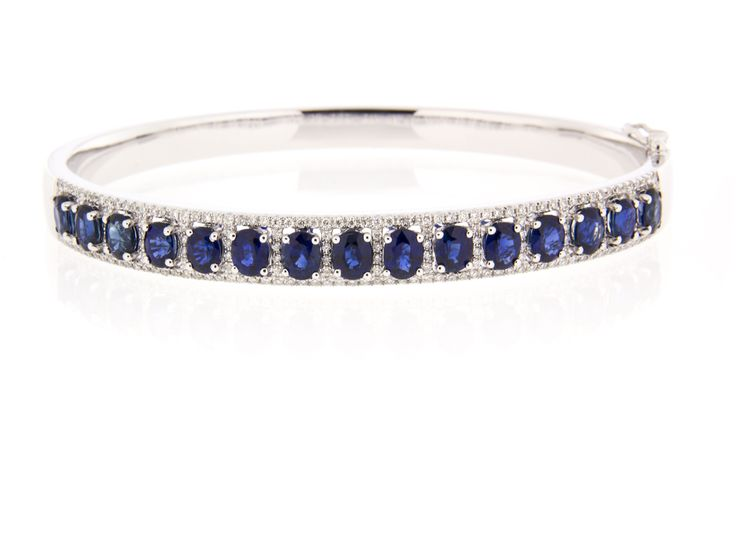 Blue Sapphire and diamond bracelet! LOVE!