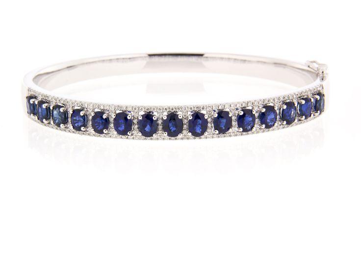 Blue Sapphire and diamond bracelet! LOVE!
