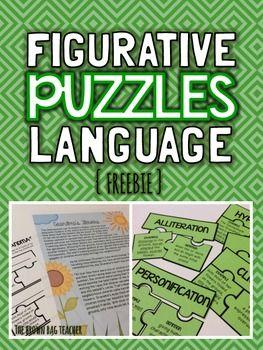 Figurative Language Puzzles {FREEBIE} LOVE this!!