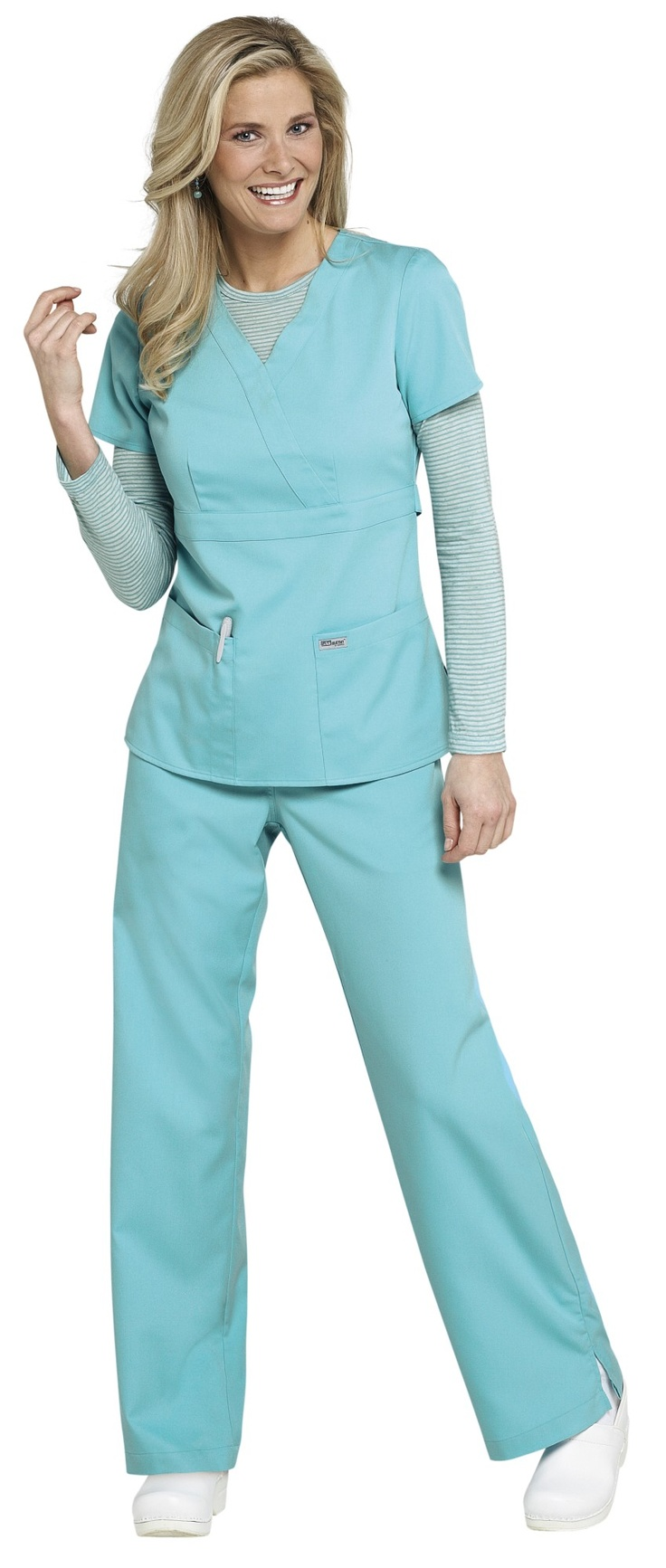 Greys Anatomy 3-pocket mock-wrap scrub top.....Seriously ...