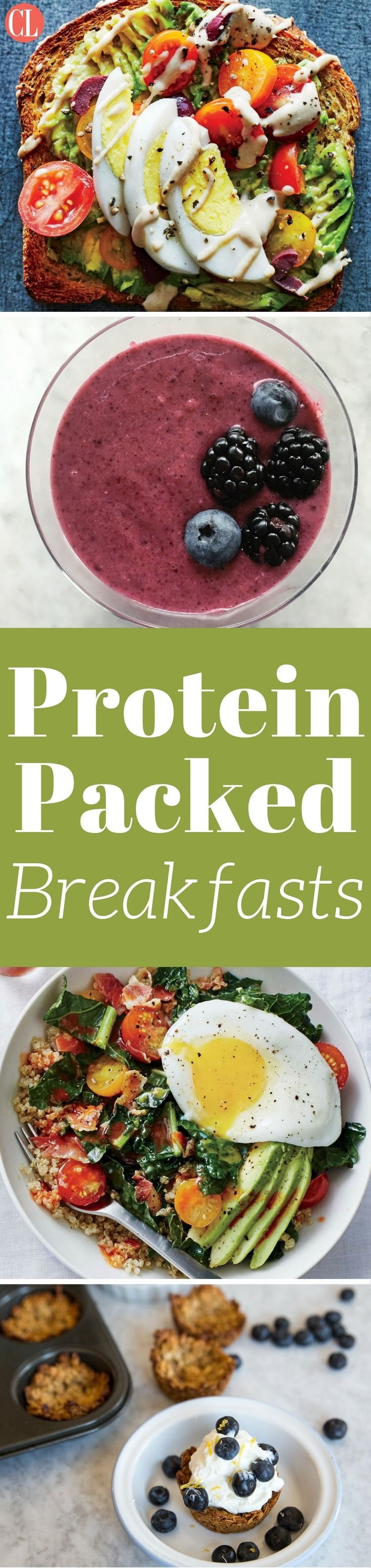 There are so many ways to sneak in extra protein during the most important meal of the day, and we're not just relying on eggs. From yogurt to vegetables to milk, breakfast is a meal that is waiting to be filled with wholesome goodness. Protein is great to consume in the morning as the body will break down the nutrient-dense food throughout the day. Get your day started right with these protein-packed breakfast that will keep you energized all day long. | Cooking Light