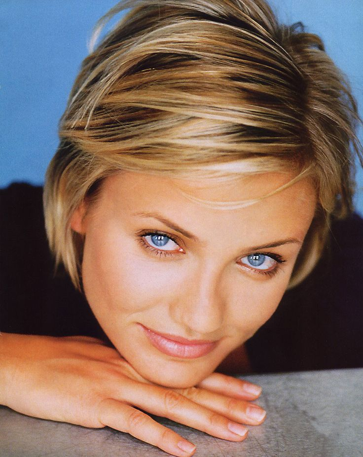 cameron diaz short hair great highlights If I ever do short...