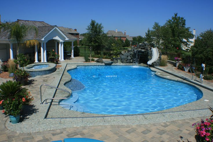 59 best pool tiling images on pinterest swimming pools for Pool design omaha
