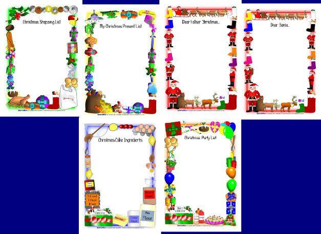 Christmas role-play writing borders (SB1893) - SparkleBox