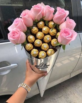 Fererro Rocher Chocolate Flower Bouquet