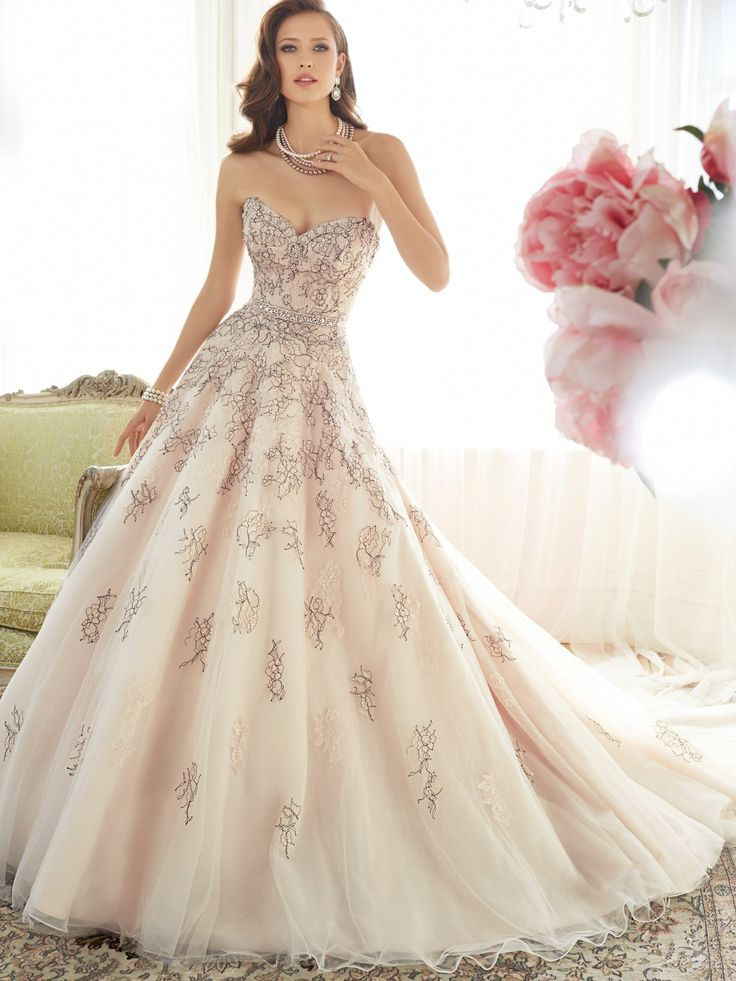 Totally unique color vintage rose and black sophia for Unique wedding dress styles