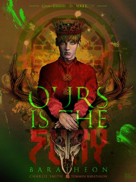 """""""Ours is the Fury"""" - Game of Thrones & Modelling Mash Up / Charlie Smith as Tommen Baratheon"""