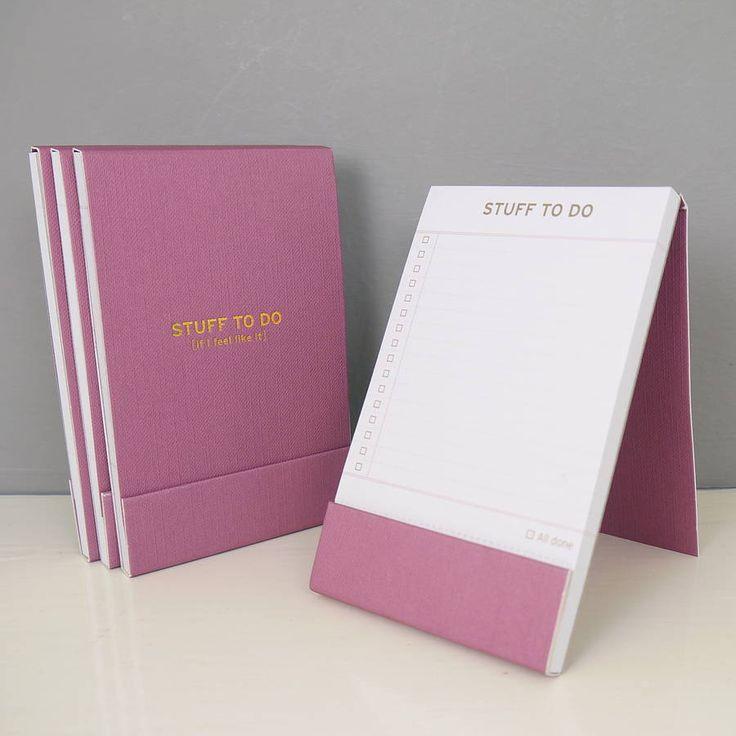 stuff to do list notebook by begolden | notonthehighstreet.com
