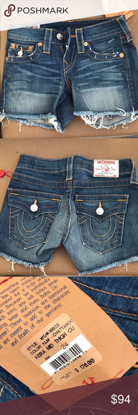 True religion shorts Brand new never worn jean shorts True Religion Shorts Jean Shorts