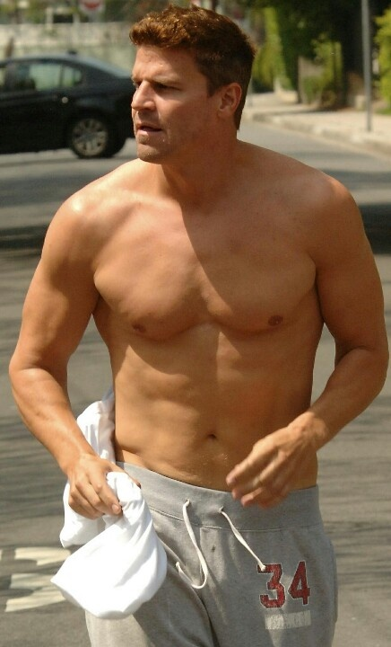 David Boreanaz Shirtless. jesus help me... Omg
